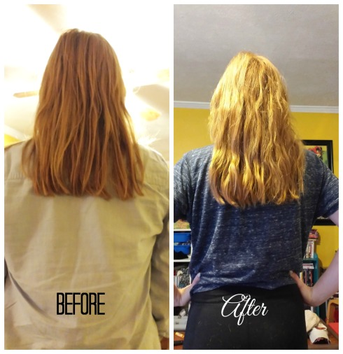 Hair Before After Back