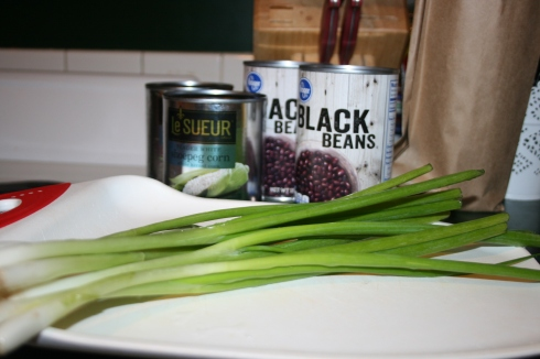 These are green onions, for those of you who have only encountered them on your fully loaded potato.